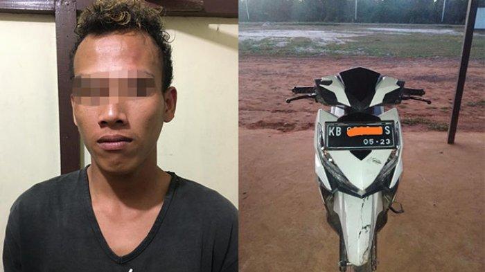 Mencuri Motor Vario, Seorang Pemuda Ditangkap Polsek Barat
