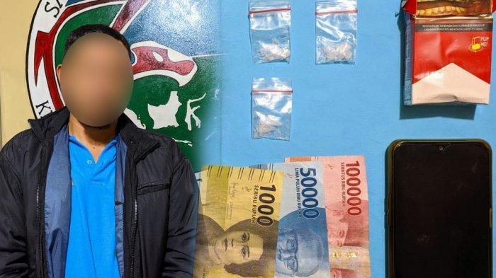 Kedapatan Simpan 3 Paket Sabu, Seorang Pria Diamankan Satresnarkoba Polres Sanggau