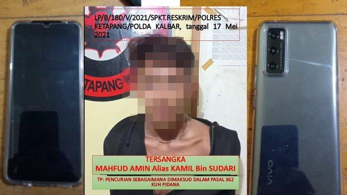Personel Reskrim Polres Ketapang Tangkap Seorang Pria Yang Diduga Mencuri Handphone