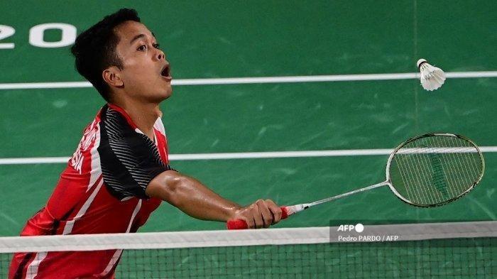 Sedang Berlangsung! Live Streaming Piala Thomas Indonesia vs Taiwan, Ginting Menang Set Pertama