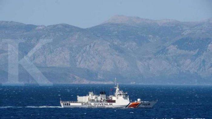 TURKI Vs Yunani Memanas di Laut Mediterania Timur, Dua Kapal Coast Guard 'Adu Banteng'