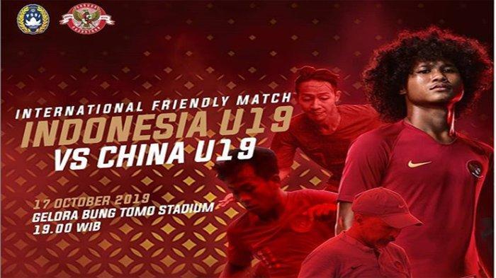 TVRI Online Indonesia U19 Vs China   Live Streaming Mola TV Timnas U19 Vs China LIVE Jam 19.00 WIB