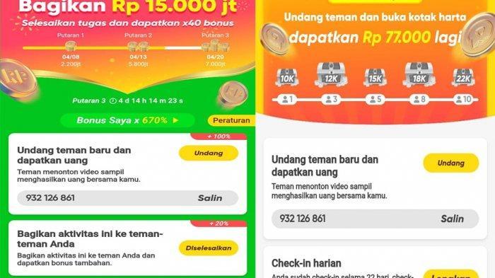 Aplikasi Penghasil Uang Snack Video Tingkat Pendapatan ...