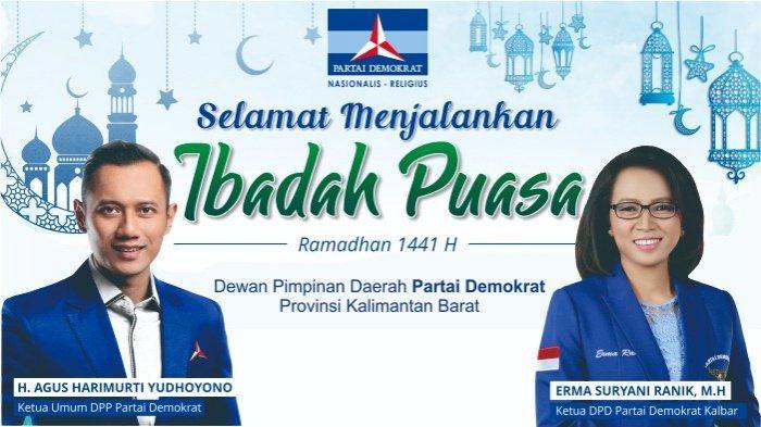 Dewan Pimpinan Daerah Partai Demokrat Kalbar Ucapkan Selamat Menjalankan Ibadah Puasa