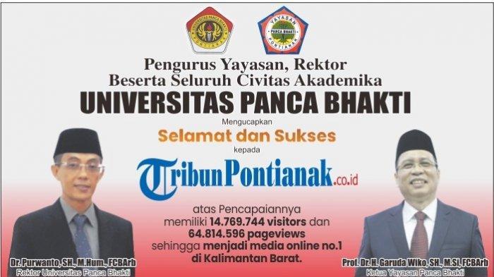 Media Online Nomor 1 di Kalbar, UPB Pontianak Mengucapkan Selamat dan Sukses kepada Tribun Pontianak