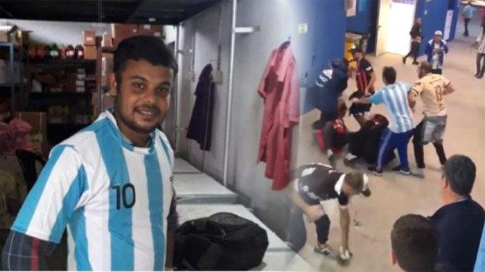 Aksi Mengerikan Suporter Argentina, Nyanyian Lagu Rasis hingga Terjun Bebas dari Jembatan