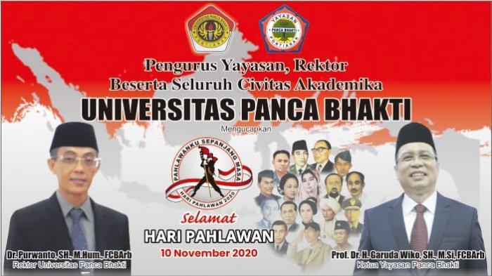 Universitas Panca Bhakti Pontianak Ucapkan Selamat Hari Pahlawan