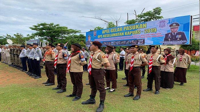 Polres Singkawang Lakukan Upacara Gelar Pasukan Operasi Keselamatan Kapuas 2019