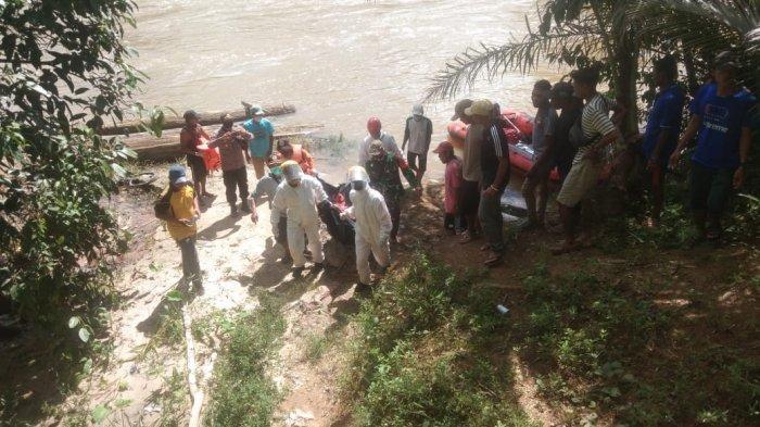 BREAKING NEWS - Jasad Korban Tenggelam di Sungai Pinoh Melawi Ditemukan