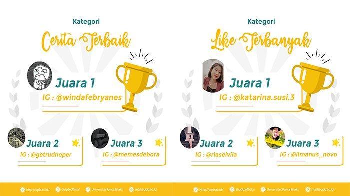 UPB Official Resmi Umumkan Pemenang 3 Hari Bercerita Challange