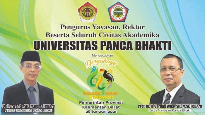 Seluruh Civitas Akademika UPB Ucapkan Dirgahayu Ke-64 Pemerintah Provinsi Kalimantan Barat