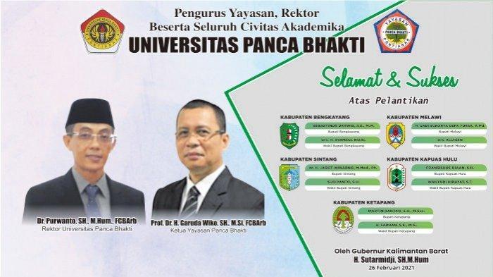 UPB Ucapkan Selamat dan Sukses atas Pelantikan Lima Kepala Daerah