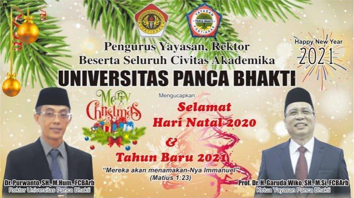 Seluruh Civitas Akademika UPB Ucapkan Selamat Hari Natal dan Tahun Baru 2021