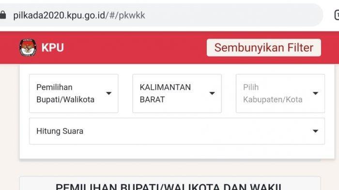 UPDATE Hasil Pilkada 2020 Pilgub Pilwako Pilbup di 270 Daerah Login https://pilkada2020.kpu.go.id