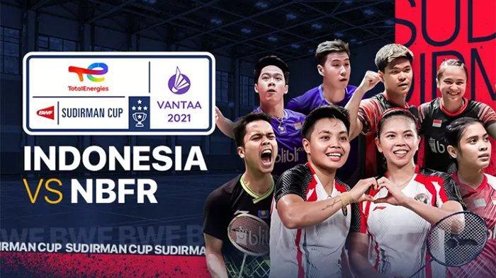 Jadwal Jam Tayang Sudirman Cup 2021 Senin 27 September Indonesia vs Kanada Live Vidio, TVRI