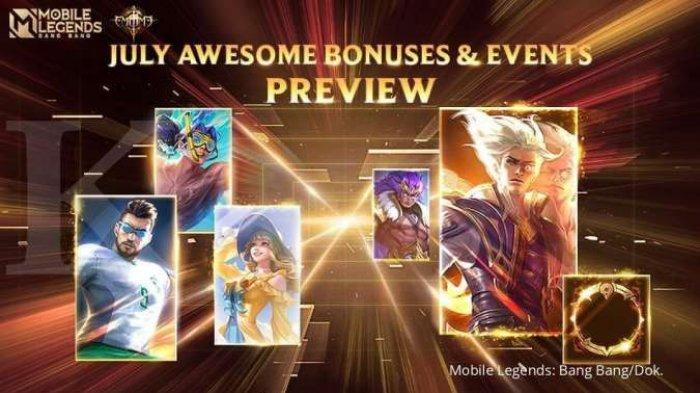 UPDATE Mobile Legends Juli 2021 Terbaru Ada Event, Skin, Hero Baru dan Diskon dari Moonton