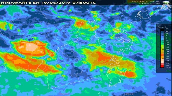 Update Peringatan Dini Cuaca Kalimantan Selatan Rabu 19-6-2019