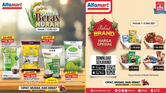 UPDATE PROMO ALFAMART 5 Mei 2021, Promo THR Paket Brand Harga Spesial hingga Festival Beras Murah