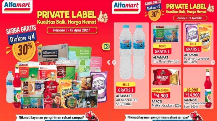 UPDATE PROMO ALFAMART Hari Ini 15 April 2021, Private Label Serba Gratis Snack hingga Minuman