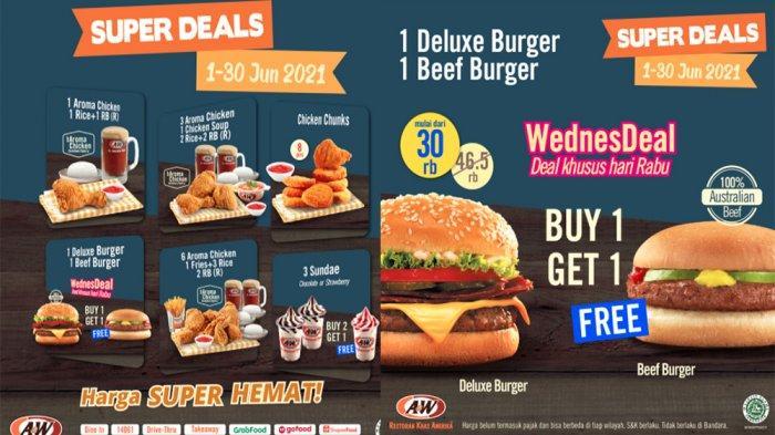 UPDATE PROMO A&W Hari Ini Rabu 23 Juni 2021, Nikmati Promo Spesial Super Deals Harga Hemat