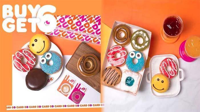 UPDATE PROMO Dunkin Donuts 28 Juni 2021, Promo DD Card Payday Beli 6 Donuts Gratis 6 Donuts Classic