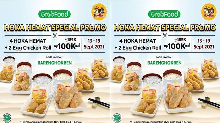 UPDATE Promo HokBen Hingga 19 September 2021, Nikmati 4 Paket Hoka Hemat + 2 Porsi Egg Chicken Roll