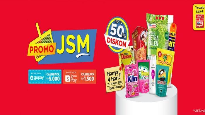 UPDATE PROMO JSM ALFAMART 14 Maret 2021, Diskon Beras Susu hingga Detergen dan Biskuit Harga Spesial