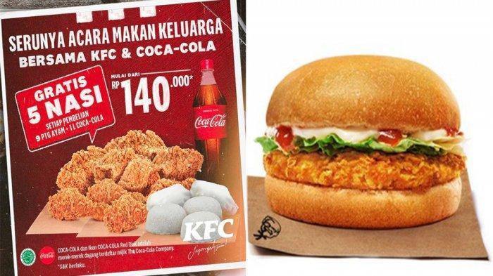 UPDATE PROMO KFC Hari Ini 11 Juni 2021, Nikmati Menu Krunchy Burger KFC hingga Gratis 5 Nasi