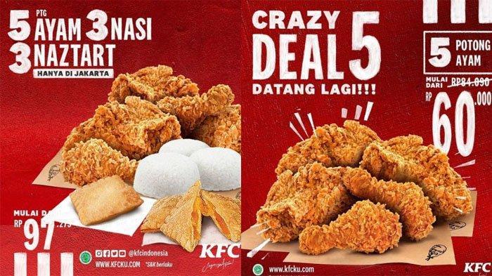 UPDATE PROMO KFC Hari Ini 21 Juli 2021, Beli 5 potong Ayam + 3 Nasi + 3 Naztar Mulai Rp 97 Ribuan