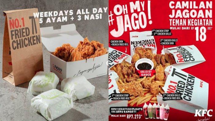 UPDATE PROMO KFC Hari Ini7 April 2021, Promo 5 Ayam 3 Nasi dan Camilan KFC Mulai dari Rp 18 Ribuan
