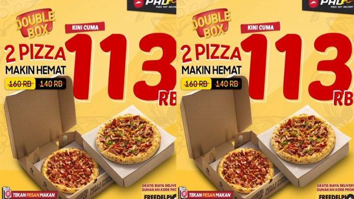 UPDATE PROMO PHD Pizza Hut Delivery Januari 2021, Double Box dengan 2 Topping Pizza Cuma Rp 113 Ribu