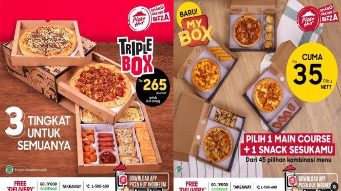 UPDATE PROMO PIZZA HUT Hari Ini 11 Juni 2021, Lebih Lengkap Paket Triple Box Bisa untuk 6 - 8 Orang
