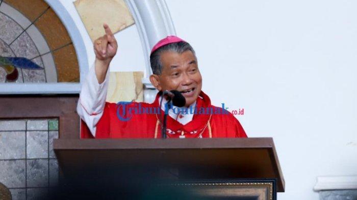 Uskup Agung Pontianak Mgr Agustinus Agus Imbau Hadapi Bersama Covid-19