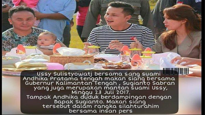Ussy Silaturahmi dengan Mantan Suami, Netizen Bahas Masa Lalu Gubernur Kalteng