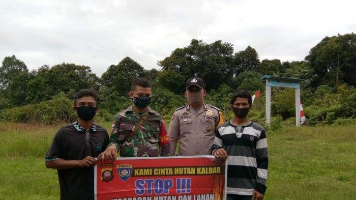 Bhabinkamtibmas Brigadir Gede Suteja Gencar Kampanyekan Pencegahan Karhutla di Desa Binaannya