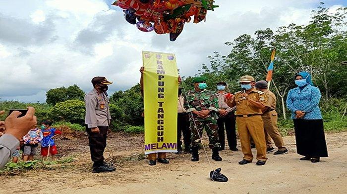 Siap Songsong New Normal, Polres Melawi Bentuk Kampung Tangguh di Desa Tembawang Panjang