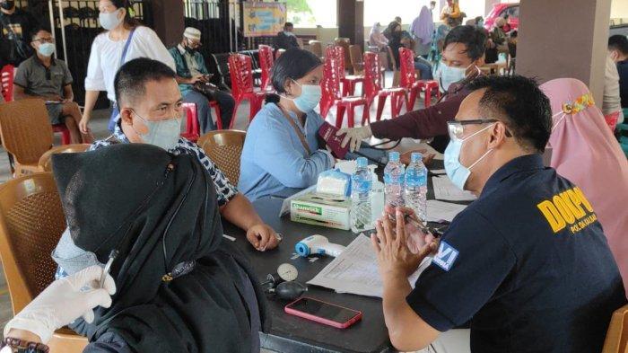 Polres Sanggau Gelar Vaksinasasi Massal, Nasrin: Sudah Divaksin Tetap Wajib Disiplin Prokes