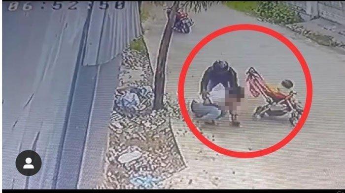 VIDEO Begal Payudara di Padang Terekam CCTV, Begini Detik-Detik Aksinya
