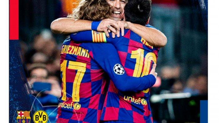 Video Cuplikan Gol Barcelona vs Borussia Dortmund di Liga Champion, Luis Suarez Bikin Gol Nutmeg