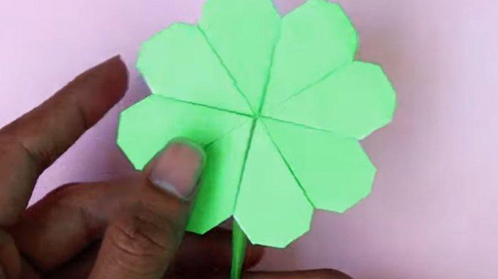 Video Kerajinan Origami Cara Membuat Bunga Semanggi Empat Daun Bunga Cantik Bola Strawberry Tribun Pontianak