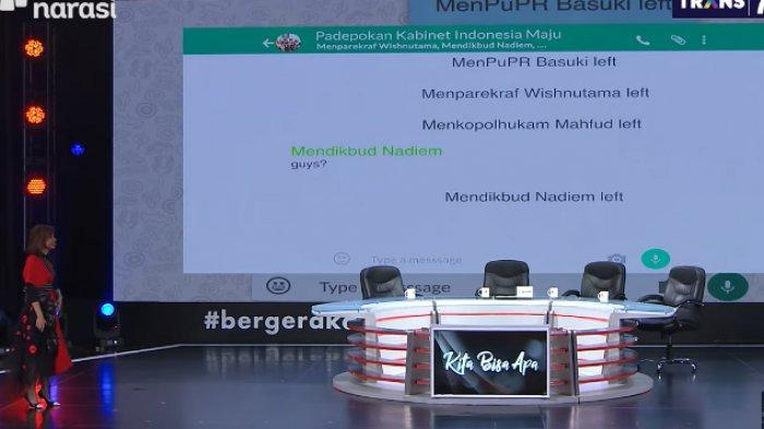 Viral Lucu Isi Chat WA Menteri Jokowi di Mata Najwa : Nadiem, Basuki & Mahfud MD Sampai Keluar Grup