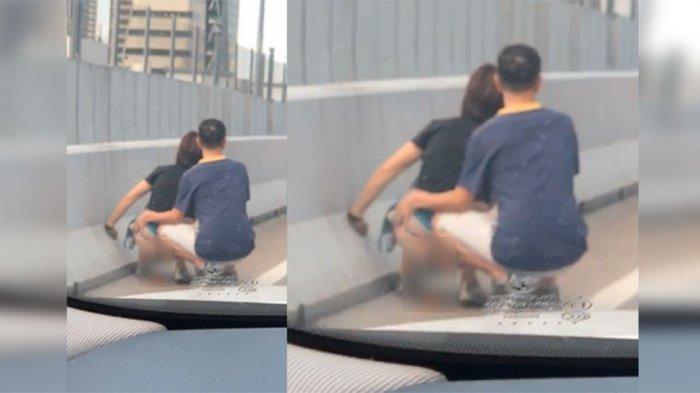 Viral Seorang Wanita Terekam Kamera Nekat Buang Air Besar di Pinggir Jalan saat Lalu Lintas Macet