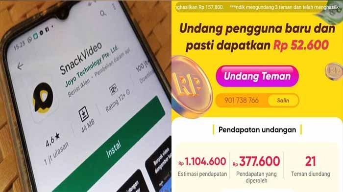 CARA Hasilkan Uang Cepat dari Aplikasi Snack Video, Masukkan Kode Referral Snack Video dan Share