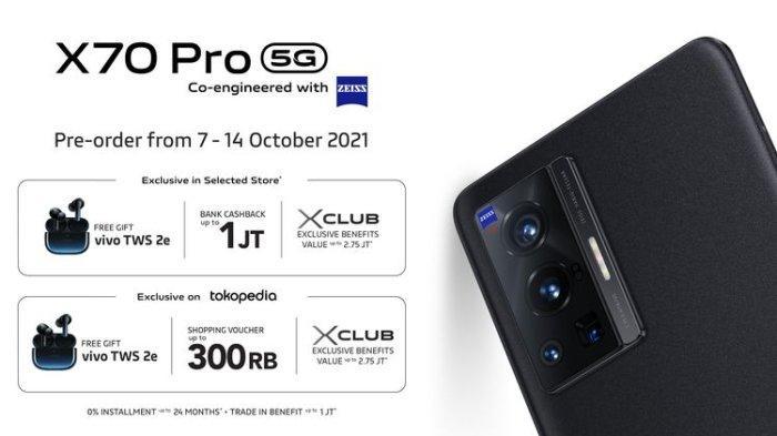 Harga Vivo X70 Pro di Indonesia ! Jadi Penerus Vivo X60 Pro , Intip Spesifikasi Vivo X70 Pro