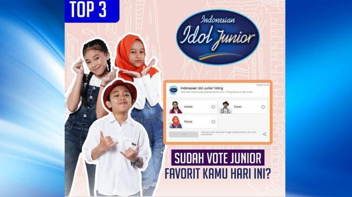 Vote Sekarang! Votingmu Tentukan Siapa Juara Indonesian Idol Junior, Ini Cara Voting SMS dan Google