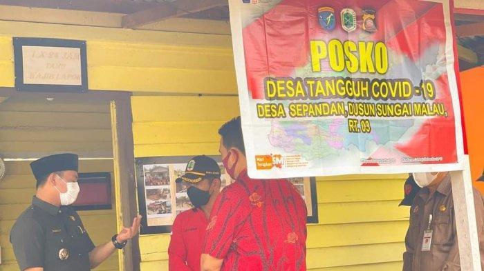 Wabup Kapuas Hulu Pantau Posko Penanganan Covid-19 di Batang Lupar, Ini Imbauan Wahyudi Hidayat