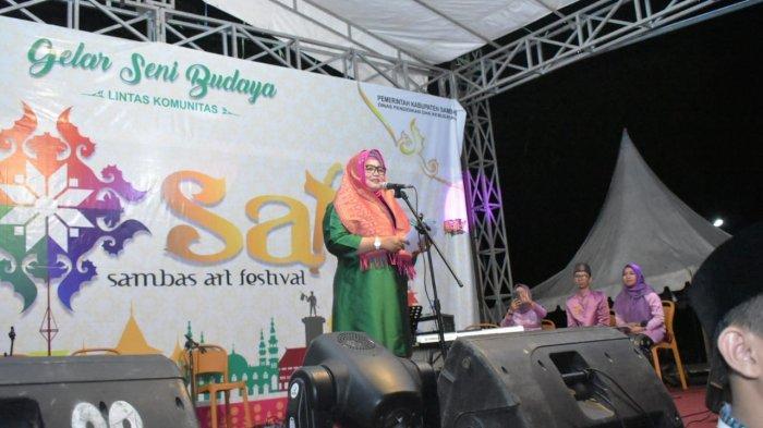 Wabup Hairiah Buka Sambas Art Festival 2019