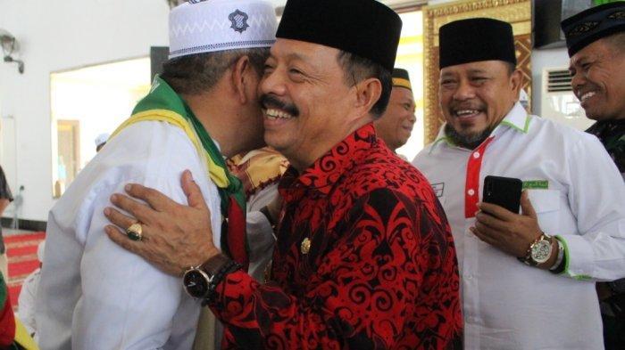 Wabup Sanggau Sambut Kedatangan Jamaah Haji di Masjid Agung Al-Muawanah