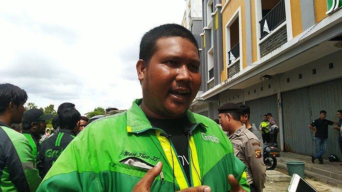 Driver Grab Pontianak Tuntut Manajemen, Gelar Aksi Depan Kantor Grab