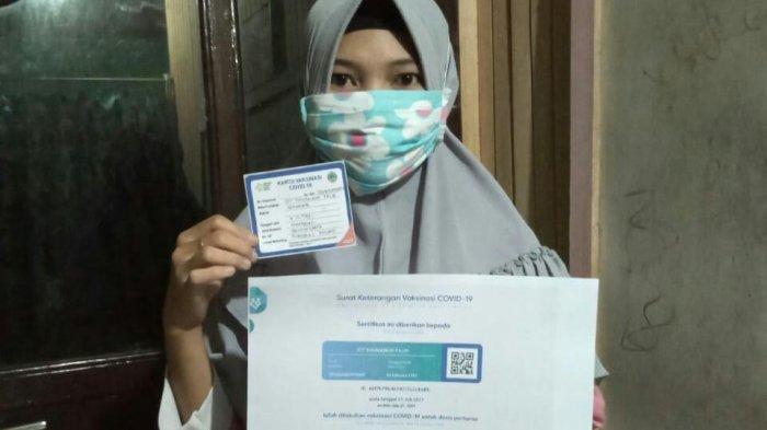 Perempuan Asal Kota Semarang Ikut Program Vaksinasi di Teluk Melano Demi Pulang Kampung